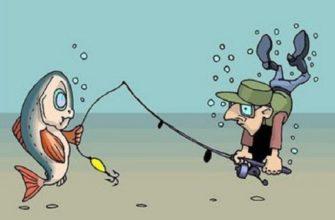рисунок смешной рыбак рыбалка