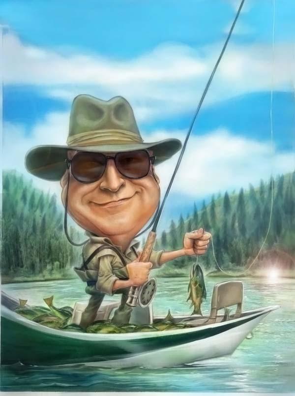 рыбак рисунок